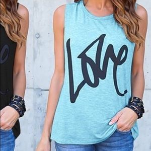 LOVE Graphic Tee in Sky Blue